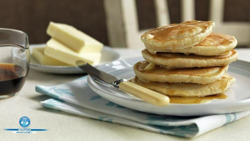 آموزش دستور پخت پنکیک نرم در منزل با  روش (آمریکایی)